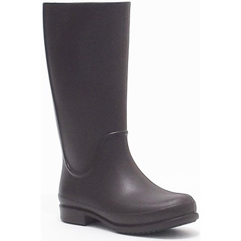 Stivali Crocs  wellie rainboot stivale donna in gomma colore marrone