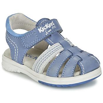 Scarpe Bambino Sandali Kickers PLATINIUM Blu