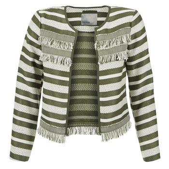 Abbigliamento Donna Giacche / Blazer Vero Moda FRILL KAKI / ECRU