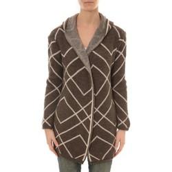 Abbigliamento Donna Gilet / Cardigan De Fil En Aiguille GILET CAPUCHE ZINKA 2135 TAUPE Marrone