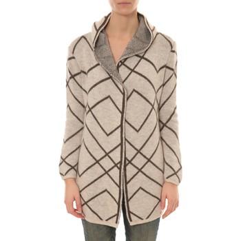 Abbigliamento Donna Gilet / Cardigan De Fil En Aiguille GILET CAPUCHE ZINKA  2135 BEIGE Verde