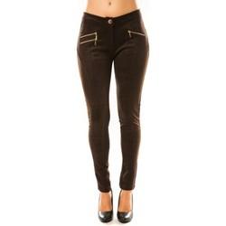 Abbigliamento Donna Pantaloni morbidi / Pantaloni alla zuava Tcqb Pantalon P604 Marron Marrone