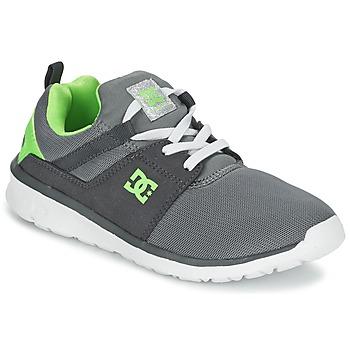 Scarpe Bambino Sneakers basse DC Shoes HEATHROW Grigio / Bianco / Verde