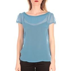 Abbigliamento Donna T-shirt maniche corte Aggabarti t-shirt voile121072 bleu Blu