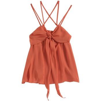 Abbigliamento Donna Top / T-shirt senza maniche Aggabarti Top 121068 Orange Arancio