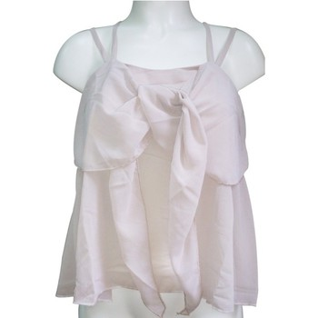 Abbigliamento Donna Top / T-shirt senza maniche Aggabarti Top 121068 Écru Beige