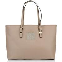 Borse Donna Tote bag / Borsa shopping Thierry Mugler Cabas Eclat 5 Taupe Marrone