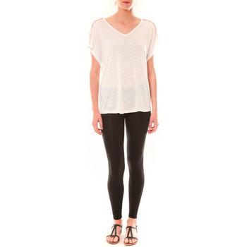 Abbigliamento Donna T-shirt maniche corte Dress Code Top M-9388  Blanc Bianco