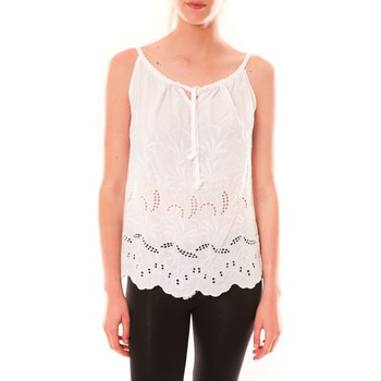 Abbigliamento Donna Top / T-shirt senza maniche Dress Code Debardeur HS-1019  Blanc Bianco