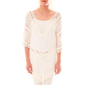 Abbigliamento Donna Tuniche Dress Code Tunique Bubblee  Blanche Bianco