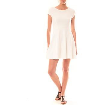 Abbigliamento Donna Abiti corti La Vitrine De La Mode Robe LC-0421 By La Vitrine Blanche Bianco