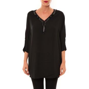 Abbigliamento Donna Tuniche La Vitrine De La Mode By La Vitrine Tunique LW15002 noir Nero