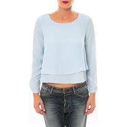 Abbigliamento Donna T-shirts a maniche lunghe By La Vitrine Top Z014 bleu Blu