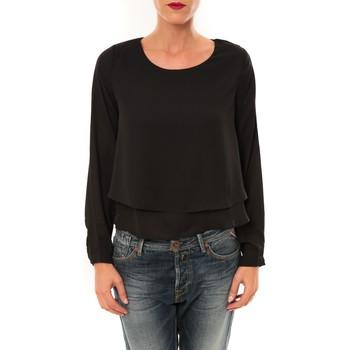Abbigliamento Donna T-shirts a maniche lunghe By La Vitrine Top Z014 noir Nero