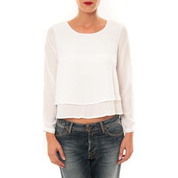 Abbigliamento Donna T-shirts a maniche lunghe By La Vitrine Top Z014 blanc Bianco