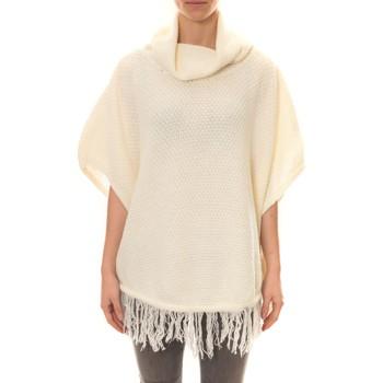 Abbigliamento Donna Gilet / Cardigan La Vitrine De La Mode Poncho Blanc Bianco