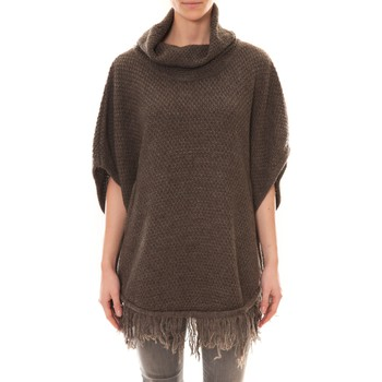 Abbigliamento Donna Gilet / Cardigan La Vitrine De La Mode Poncho Marron Marrone