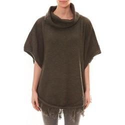 Abbigliamento Donna Maglioni La Vitrine De La Mode Poncho Kaki Verde