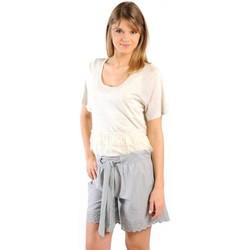 Abbigliamento Donna T-shirt maniche corte Gat Rimon TOP LYLY ECRU Beige