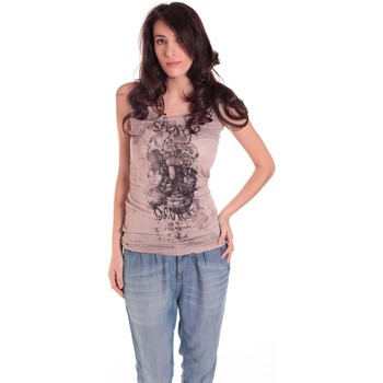 Abbigliamento Donna Top / T-shirt senza maniche Rich & Royal DEBARDEUR CRASH 11Q415 TAUPE Marrone
