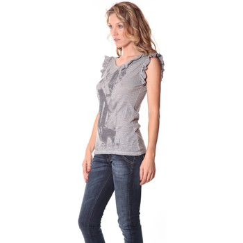 Abbigliamento Donna Top / T-shirt senza maniche Rich & Royal Rich&Royal Tee shirt Glam Gris 13q427/862 Grigio