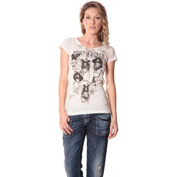 Abbigliamento Donna T-shirt maniche corte Rich & Royal Rich&Royal Tee shirt Visages Ecru13q465 Beige