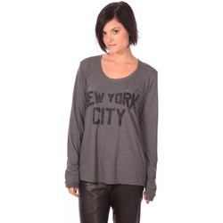 Abbigliamento Donna T-shirts a maniche lunghe Charlie Joe Top New York Grigio
