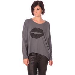 Abbigliamento Donna T-shirts a maniche lunghe Charlie Joe Top Lips Gris Grigio