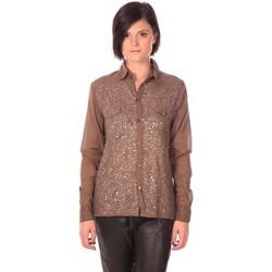 Abbigliamento Donna Camicie Charlie Joe Chemise Sonja Kaki Marrone