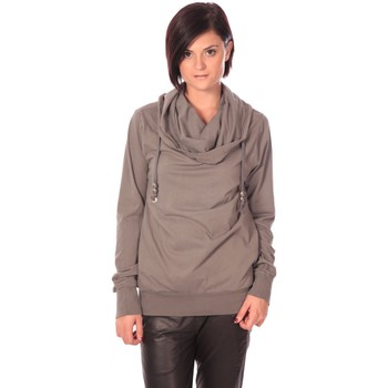 Abbigliamento Donna Maglioni Rich & Royal Rich&Royal Sweat Look Taupe Marrone