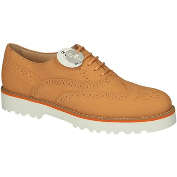Scarpe Hogan  Stringate brogue donna in pelle arancione