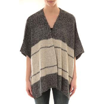 Abbigliamento Donna Gilet / Cardigan Barcelona Moda Gilet YM21 Gris et Beige Grigio