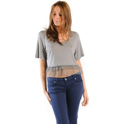 Abbigliamento Donna T-shirt maniche corte Gat Rimon TOP LYLY PLOMB Grigio