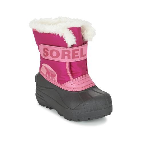 Sorel Bambino Rosa Scarpe Stivali Snow Commander Gratuita 3000 Neve Consegna Da Childrens T31cJlFK