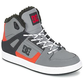 Scarpe Bambino Sneakers alte DC Shoes REBOUND WNT B SHOE XSKN Grigio / Nero / Arancio