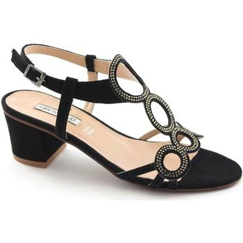 Sandali Grunland  AULO SA1344 nero sandali donna camoscio strass