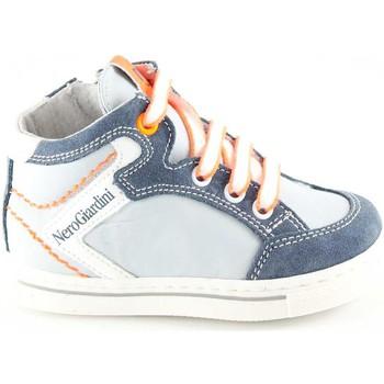 Pantofole bambini Nero Giardini  JUNIOR 23811 perla scarpe bambino mid sneaker zip