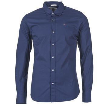 Abbigliamento Uomo Camicie maniche lunghe Tommy Jeans KANTERMI Marine