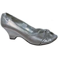 Scarpe Donna Décolleté Keys Elasticizzata Intrecciata Decolté argento