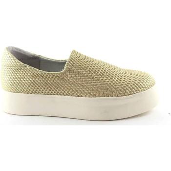 Scarpe Frau  37Y0 oro scarpe donna sneakers slip-on elasticizzata plateaux