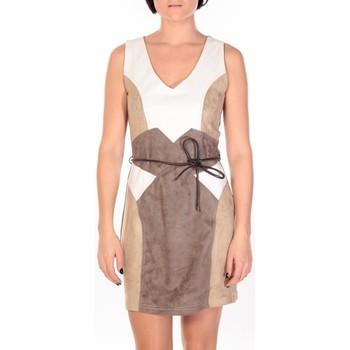 Abbigliamento Donna Abiti corti Dress Code Robe Fraise blanc/beige/marron Multicolore