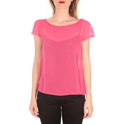 Abbigliamento Donna T-shirt maniche corte Aggabarti t-shirt voile 121072 fushia Rosa