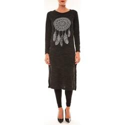 Abbigliamento Donna Abiti lunghi By La Vitrine Robe Plume anthracite Grigio