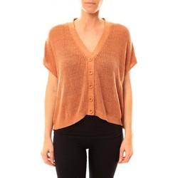 Abbigliamento Donna Gilet / Cardigan American Vintage GILET TIN236 ROUILLE CHINE Arancio