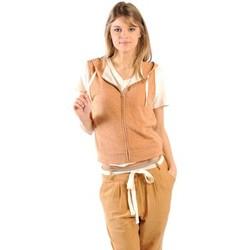 Abbigliamento Donna Felpe American Vintage ZIPPER CAPUCHE PRA193E11 ROUILLE CHINE Arancio