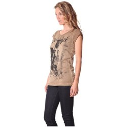 Abbigliamento Donna T-shirt maniche corte Rich & Royal Tee-shirt Little 13q430 Camel Marrone