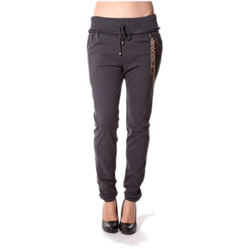 Abbigliamento Donna Pantaloni Rich & Royal Rich&Royal Pantalon City sweet ANTHRACITE 13q915/876 Grigio