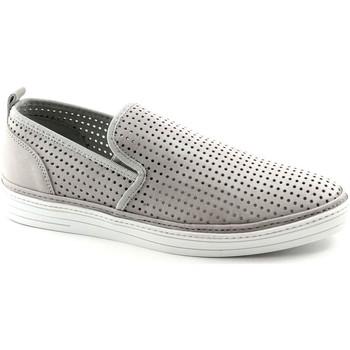 Scarpe Café Noir  PL700 grigio scarpe uomo slip on sneakers tessuto elastici