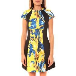 Abbigliamento Donna Abiti corti De Fil En Aiguille Robe You&You B8086 Jaune/Bleu Multicolore