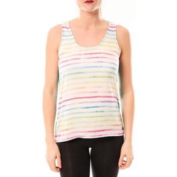 Abbigliamento Donna Top / T-shirt senza maniche Little Marcel Débardeur Tapali E15FTAN0216 Blanc/Multicolor Multicolore